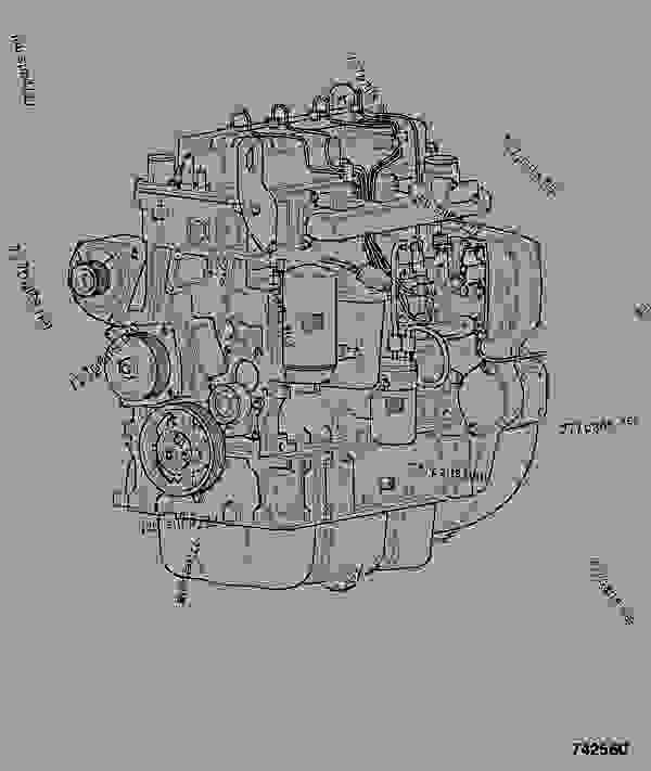 Parts scheme ENGINE, COMPLETE, 320/40004 - JCB INDIA JCB 320/40244 - JCB444 4 CYLINDER ENGINE PARTS CATALOGUE, 9802/2910 4 CYLINDER NATURALLY ASPIRATED ENGINE ASSEMBLIES ENGINE, COMPLETE, 320/40004 | 777parts
