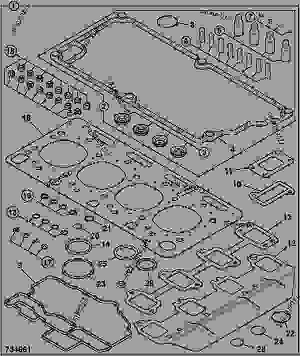 Parts scheme GASKET SET, TOP OVERHAUL - ITL JCB 320/40011 - JCB444 4 CYLINDER ENGINE PARTS CATALOGUE, 9802/2940 ENGINE 4 CYLINDER TURBOCHARGED GASKET SETS GASKET SET, TOP OVERHAUL | 777parts