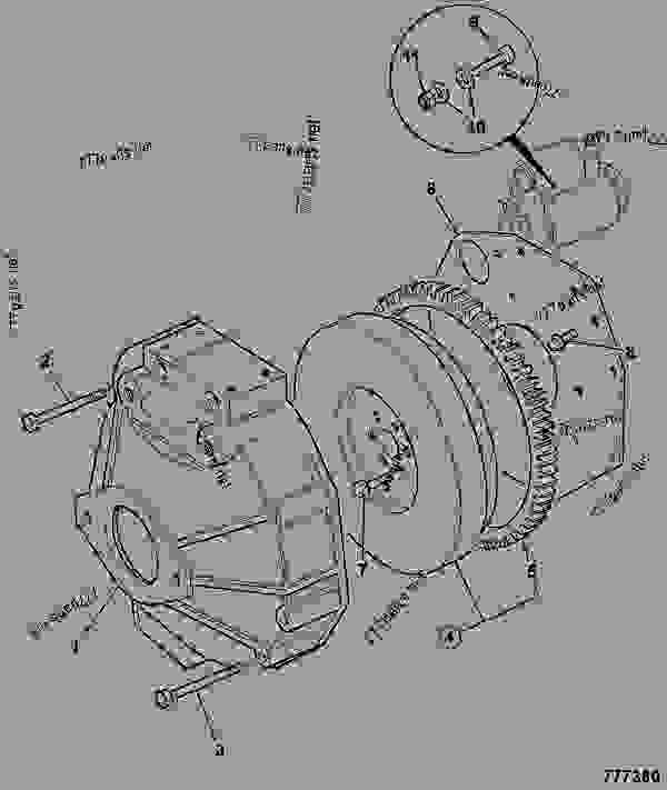 Parts scheme FLYWHEEL HOUSING, FH3 - CONSTRUCTION JCB 320/40087 - JCB444 4 CYLINDER ENGINE PARTS CATALOGUE, 9802/2910 4 CYLINDER NATURALLY ASPIRATED FLYWHEEL HOUSING FLYWHEEL HOUSING, FH3 | 777parts