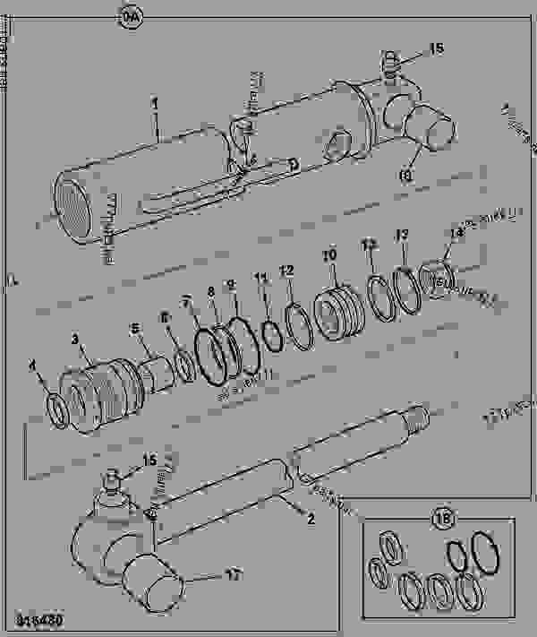 Parts scheme RAM, SWING - CONSTRUCTION JCB 8018 - MINI EXCAVATOR, 9802/5407 HYDRAULICS & AIR RAMS RAM, SWING | 777parts