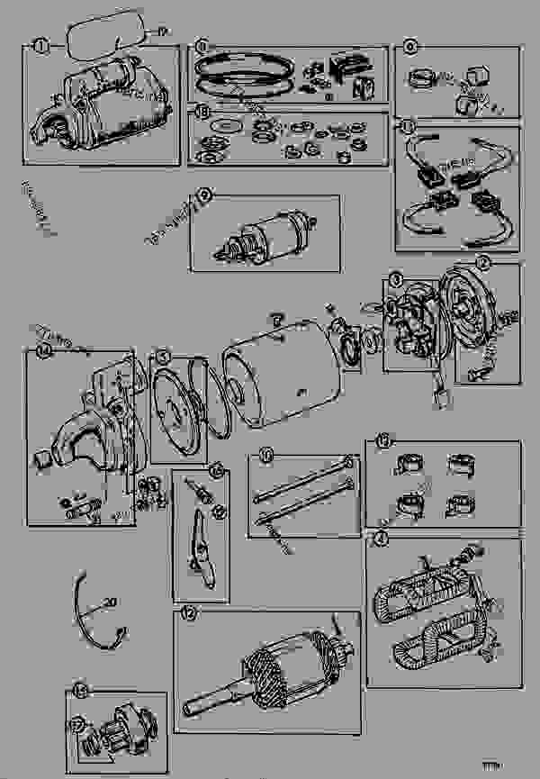 Parts scheme MOTOR, STARTER, M127 12.VOLT - CONSTRUCTION JCB .814 - CRAWLER EXCAVATOR, 9802/5300, 201500/78600- ENGINE 6.354.4/T6.354.4 ENGINE ELECTRICS MOTOR, STARTER, M127 12.VOLT | 777parts