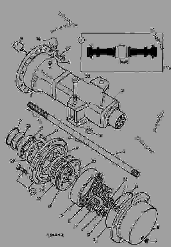 Parts scheme AXLE ASSEMBLY, DRIVE, REAR, 15.78:1, WITH CREEP SPEED FACILITY - CONSTRUCTION JCB .3CX-4 France - REGULAR BACKHOE LOADER (WORLDWIDE), 9802/8550, M337001- AXLES, WHEELS & TRANSMISSION AXLES REAR AXLE ASSEMBLY, DRIVE, REAR, 15.78:1, WITH CREEP SPEED FACILITY | 777parts