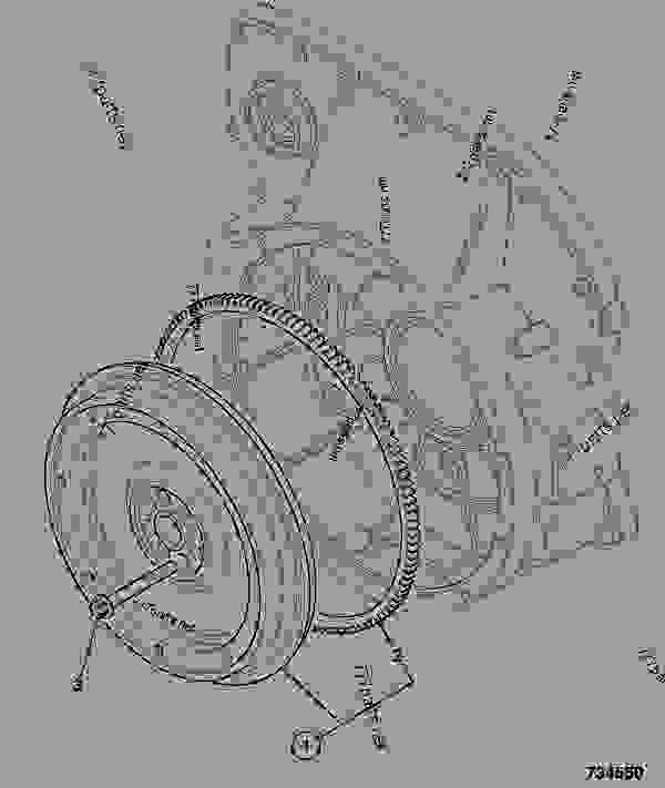 Parts scheme FLYWHEEL ASSEMBLY, 10SAE - ITL JCB 320/40072 - JCB444 4 CYLINDER ENGINE PARTS CATALOGUE, 9802/2910 4 CYLINDER NATURALLY ASPIRATED FLYWHEEL ASSEMBLY FLYWHEEL ASSEMBLY, 10SAE | 777parts