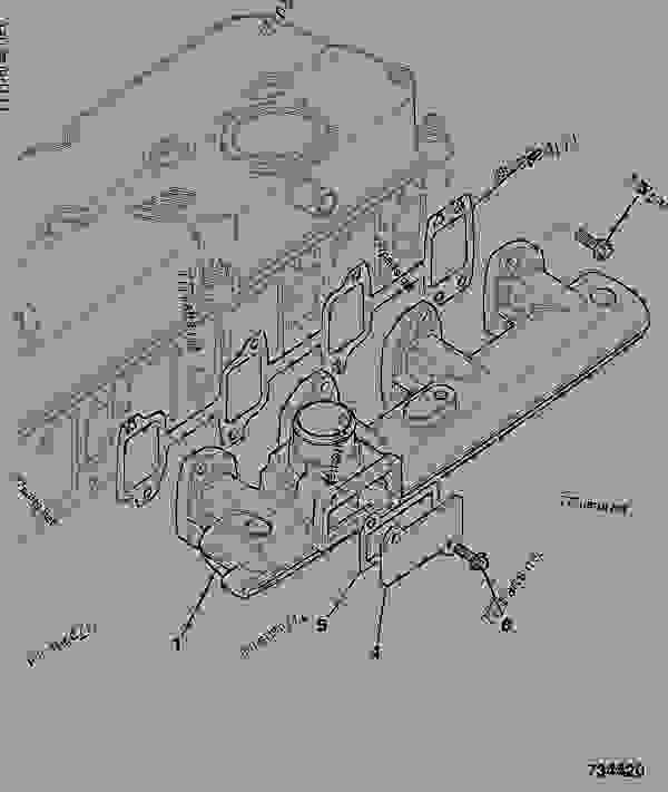 Parts scheme INDUCTION MANIFOLD - CONSTRUCTION JCB 320/40033 - JCB444 4 CYLINDER ENGINE PARTS CATALOGUE, 9802/2940 ENGINE 4 CYLINDER TURBOCHARGED INDUCTION MANIFOLD INDUCTION MANIFOLD | 777parts