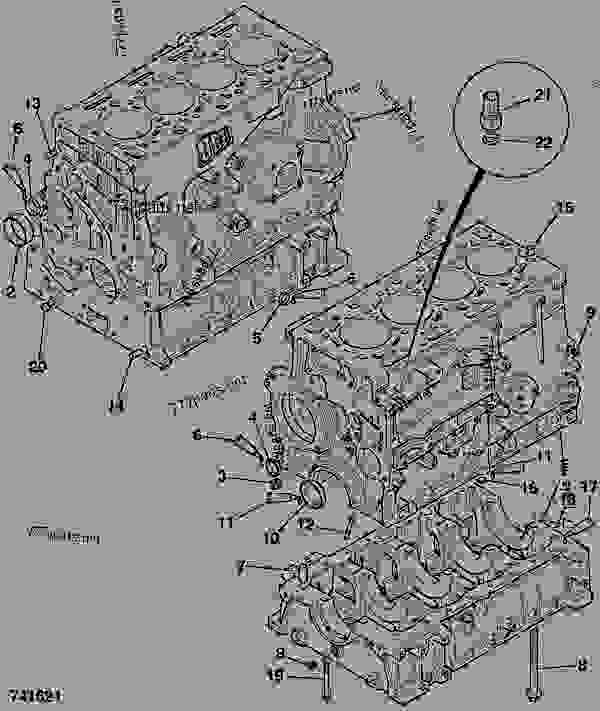Parts scheme CYLINDER BLOCK, ASSEMBLY - ITL JCB 320/40034 - JCB444 4 CYLINDER ENGINE PARTS CATALOGUE, 9802/2940 ENGINE 4 CYLINDER TURBOCHARGED CYLINDER BLOCK ASSEMBLY CYLINDER BLOCK, ASSEMBLY | 777parts