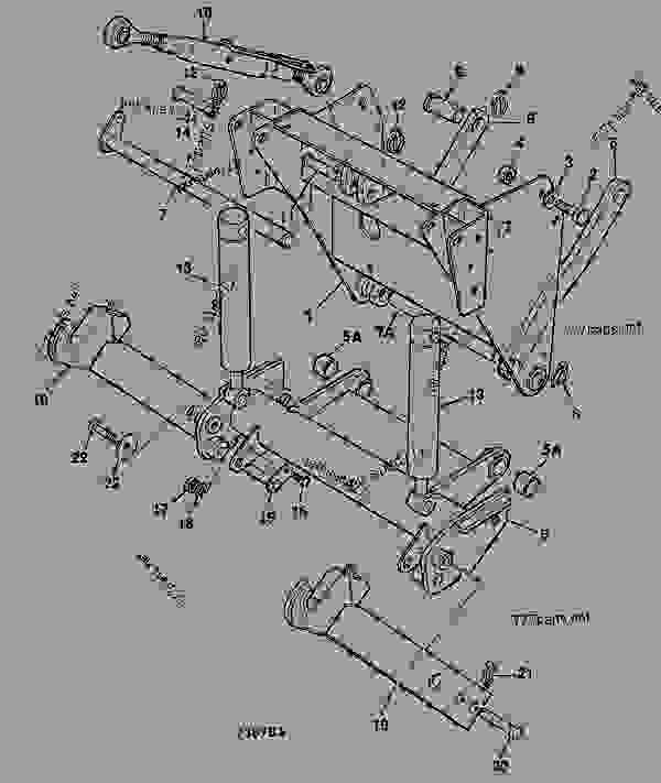 Parts scheme HITCH ASSEMBLY, FRONT - CONSTRUCTION JCB 1115 - FASTRAC, 9802/6620, M736000- ATTACHMENTS ATTACHMENTS HITCH ASSEMBLY, FRONT | 777parts