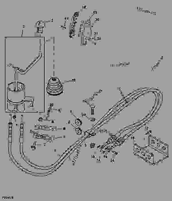 0000616182____________a1 selective control valve lever and linkage (cab) tractor, compact