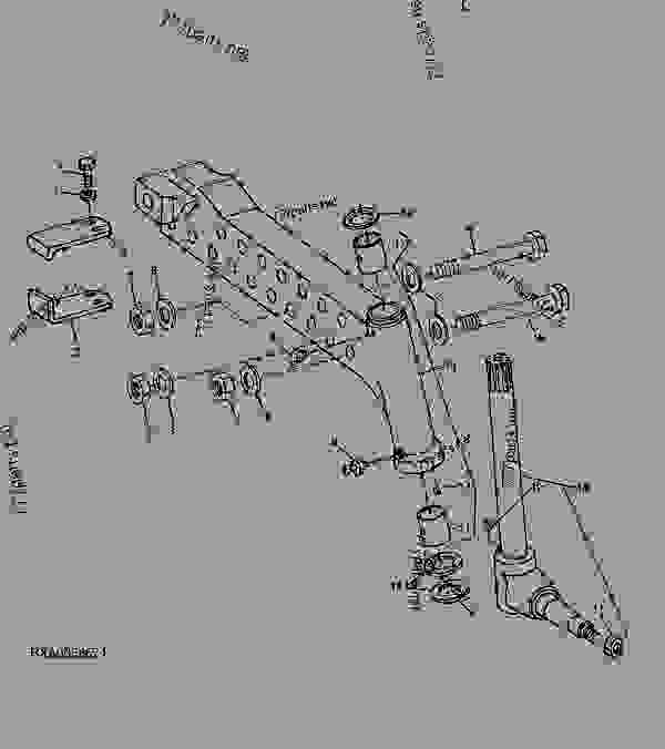 Parts scheme Front Axle Knee Spindle Knuckle (2WD) - TRACTOR John Deere 8285R - TRACTOR - 8285R Tractor (Worldwide) WHEELS, FRONT AXLES, SHEET METAL 8285R Front Axle Knee Spindle Knuckle (2WD) | 777parts
