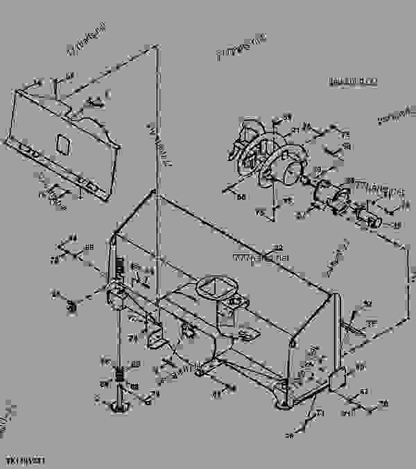 Parts scheme Snowblower Main Housing, Frame, And Auger (High Flow) (SB78H)  (110001 - 000002) - LOADER, SKID-STEER, ATTACHMENT John Deere CP24C - LOADER, SKID-STEER, ATTACHMENT - Worksite Pro Rotary Equipment Snowblower Snowblower Main Housing, Frame, And Auger (High Flow) (SB78H)  (110001 - 000002) | 777parts