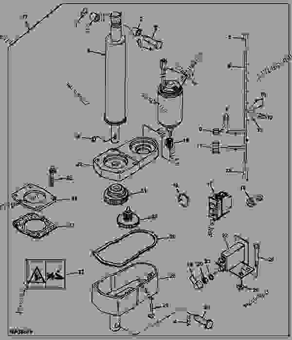John Deere Gator Power Wheels Wiring Diagram: Power Lift Kit (48v) (Export) (