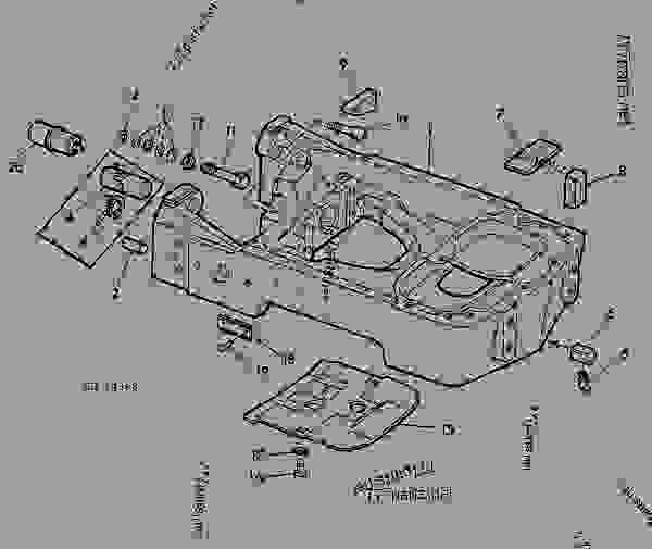 Parts scheme FRONT SUPPORT [01I10] - TRACTOR John Deere 3135 - TRACTOR - 3135 (50000-) Tractor 60 STEERING SYSTEM AND BRAKES FRONT SUPPORT [01I10] | 777parts