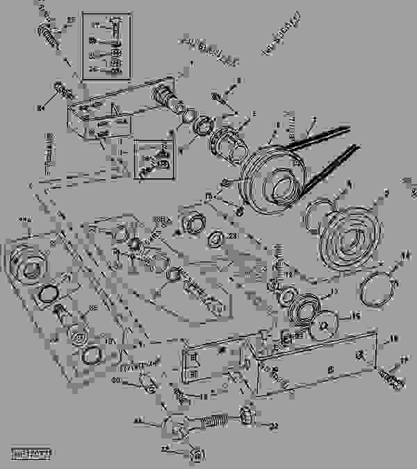 9600 John Deere Combine Wiring Diagram : Variable drive upper countershaft sheaves and supports