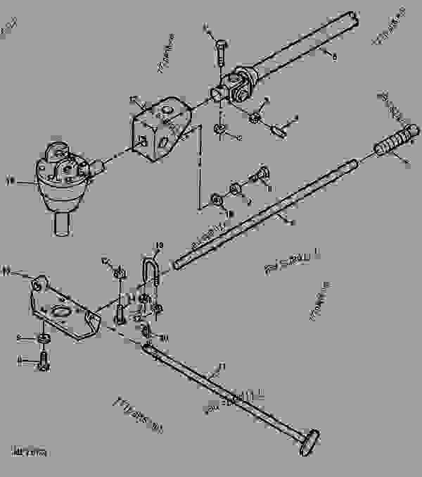 GEARBOX, DRIVESHAFT AND BRACKETS [C05] - DIGGER, POSTHOLE
