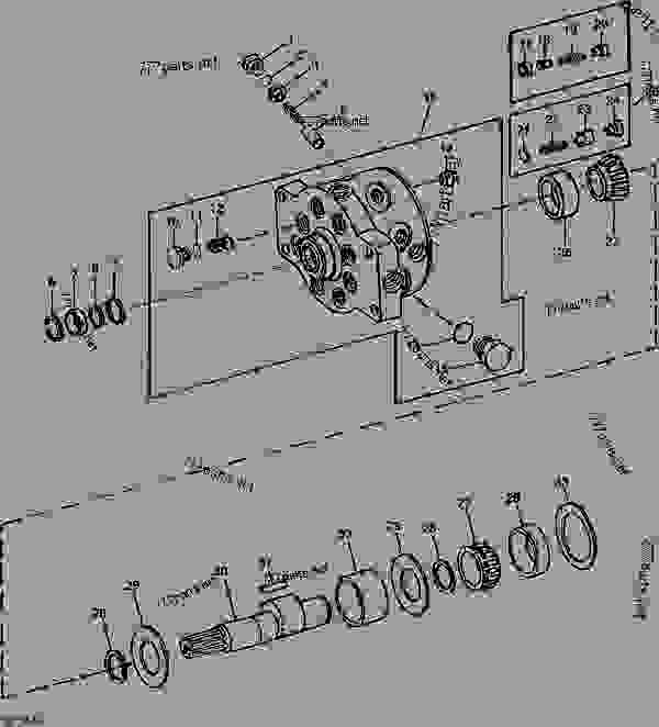 John Deere 2030 Hydraulic Pump Parts Diagram on john deere 2520
