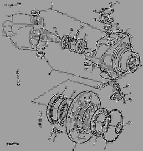 Parts scheme KNUCKLE HOUSING, MFWD-AXLE (APL2035 / AS2035) - ENGINE, POWERTECH John Deere 4045TL057 - ENGINE, POWERTECH - 6110L, 6210L, 6310L, 6410L, 6510L Tractors (North American Edition) FRONT AXLES KNUCKLE HOUSING, MFWD-AXLE (APL2035 / AS2035) | 777parts