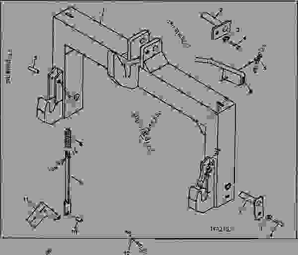 John Deere 3 Point Hitch Parts Diagram