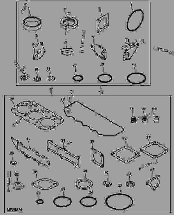P97402 as well Air  pressor Parts Cap2040p Of P 3931 likewise International Harvester Roosa Master Injection Pump Parts Manual Htih Prmdslpump furthermore Wheel Tiller Shaft Assembly moreover 1041522 78 4x4 Front Axle Schematic. on john deere model a gaskets