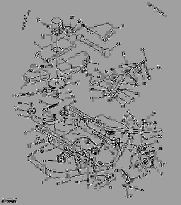 Parts scheme MAIN FRAME ASSEMBLY - FRONTIER John Deere GM3072 - FRONTIER - GM3054,GM3060,GM3072 Grooming Mowers (Frontier) MAIN FRAME ASSEMBLY | 777parts