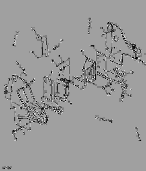 Parts scheme Side Plate Kit - BACKHOE John Deere 46 - BACKHOE - 46, 47, 48, 375, 447, 448 and 485 Backhoes (for 4000 Series Compact Utility Tractor) Backhoe 485 Side Plate Kit | 777parts
