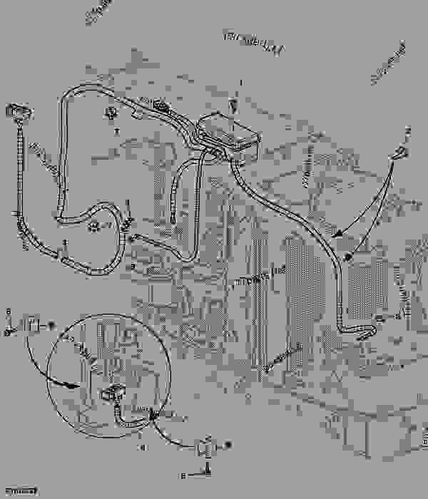 Electrical Wiring In North America : Power supply wiring harness tractor john deere