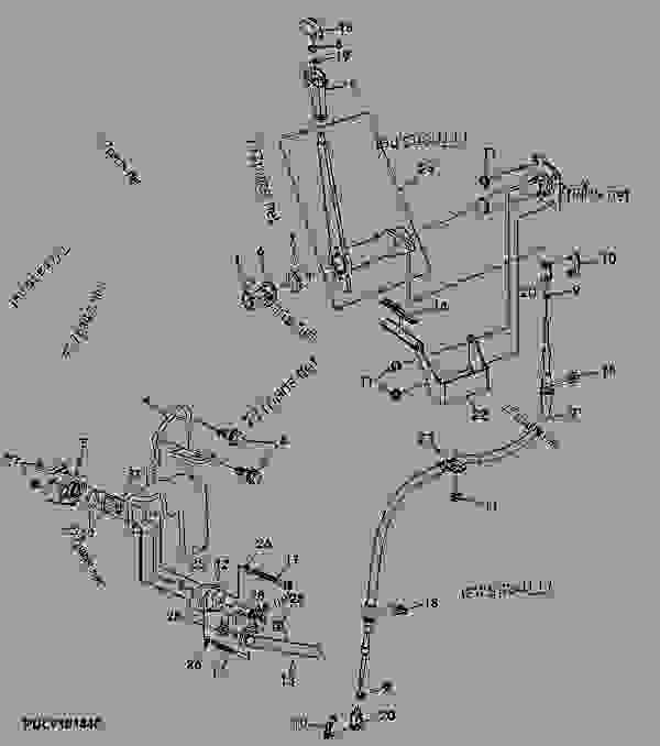 Parts scheme CONTROL LEVER, CREEPER, CAB - TRACTOR John Deere 5105M - TRACTOR - 5105M Tractor (Engine 4045HLV50)(Tier 3) Power Train Controls Tractor CONTROL LEVER, CREEPER, CAB | 777parts