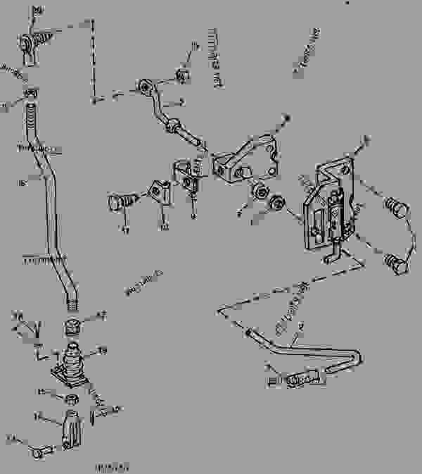 reverser control rod and linkage