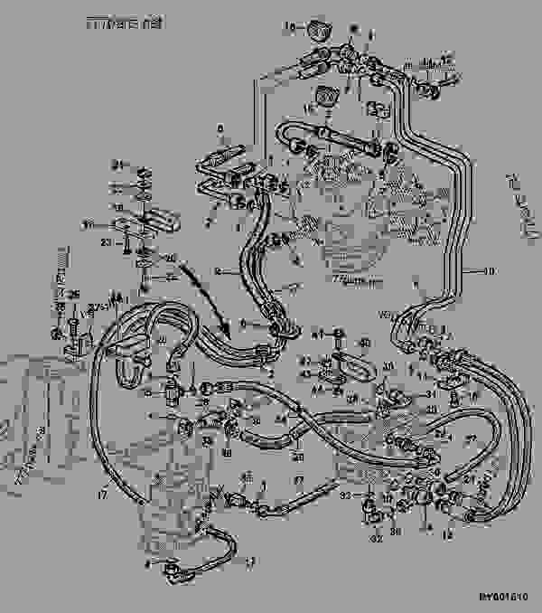 hydrostatic steering oil lines cab with autotrac tractor john rh 777parts net John Deere Tractor Wiring Diagrams john deere 6320 wiring diagram
