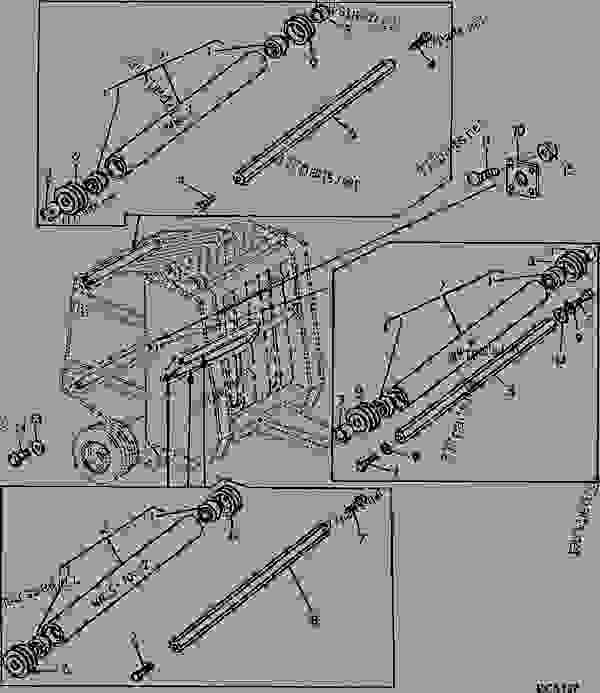 Jd 568 Baler Wiring Diagram besides S1417716 also John Deere Baler Hydraulic Cylinder Kit as well S1449831 furthermore New Holland Parts Used. on john deere round baler parts