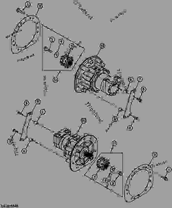 john deere 317 hydrostatic transaxle parts diagram