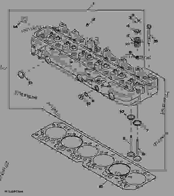 Parts scheme 5107 CYLINDER HEAD - ENGINE, POWERTECH John Deere 6068HRW62 - ENGINE, POWERTECH - 7420 and 7520 Tractors (North American Edition) Engine 6068TP058 5107 CYLINDER HEAD | 777parts