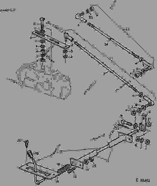 john deere 950 parts diagram