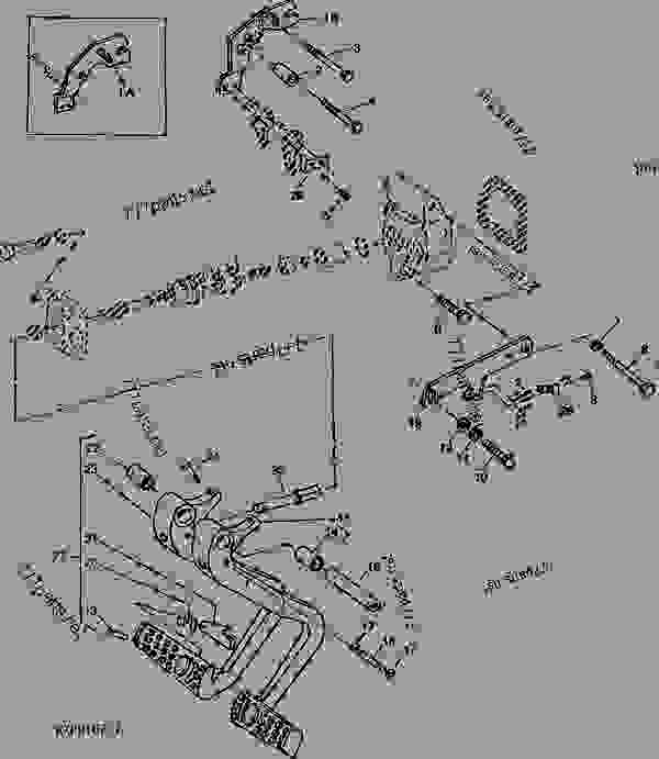 Parts scheme BRAKE PEDAL (MECHANICAL FRONT WHEEL DRIVE) - TRACTOR John Deere 4455 - TRACTOR - 4055, 4255 and 4455 Tractors (North American Edition) STEERING AND BRAKES BRAKE PEDAL (MECHANICAL FRONT WHEEL DRIVE) | 777parts