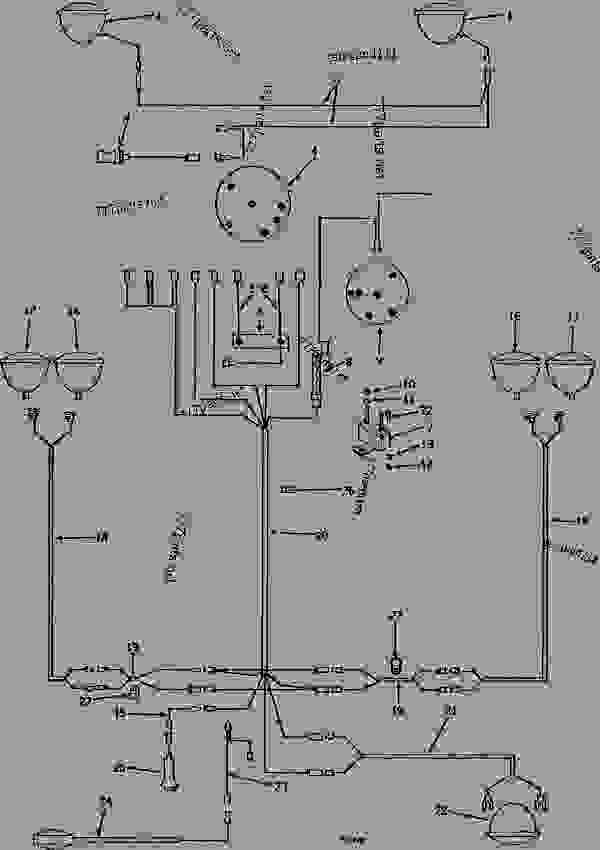 LIGHTING SYSTEM WIRING HARNESS (ROW-CROP) (TRACTOR SERIAL NO ... on