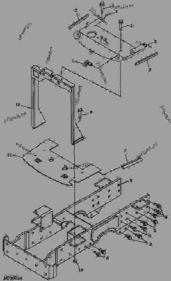 FRAME (SN -H142541, -P) [1] - TRACTOR, COMPACT UTILITY ... on john deere 4410 parts diagram, john deere 4410 oil filter, john deere 4410 fuel pump, john deere 4410 specifications, john deere 4410 fuel system, john deere 4410 cover, john deere 4410 battery,