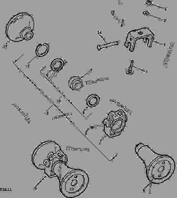 john deere 450 parts diagram