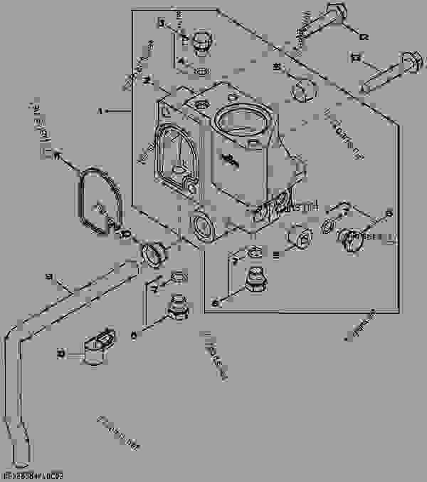 3924 Thermostat Housing, By Pass Tube To Water Pump