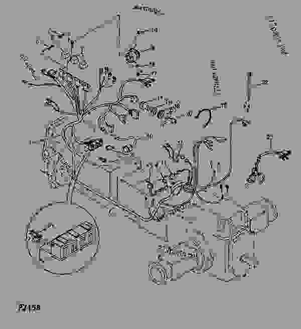 rear wiring harness, fuses, relays and switches - tractor ... z225 john deere wiring diagram