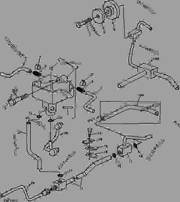 transmission oil lines 02d13 tractor john deere 2940 tractor rh 777parts net John Deere Ignition Wiring Diagram Harness John Wiring Deere Pf80988