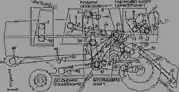 sheaves, sprockets, and tighteners on right hand side combine john john deere 4400 combine parts diagram john deere combine parts diagram #7