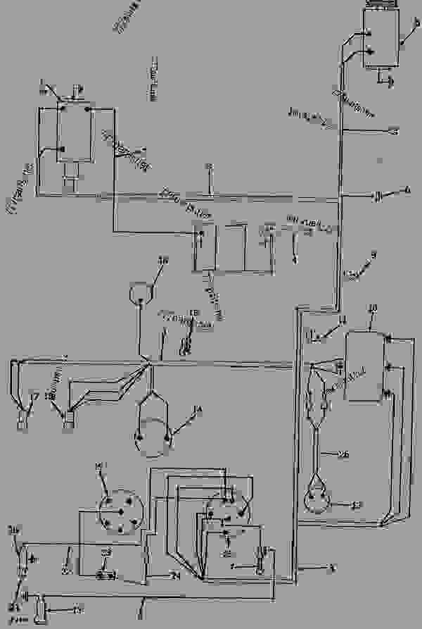 ELECTRICAL SYSTEM WIRING HARNESS (GASOLINE AND LP-GAS ... on john deere 1010 tractor manuals, john deere 2020 front axle diagram, john deere 3010 parts diagram, john deere 310g parts diagram,