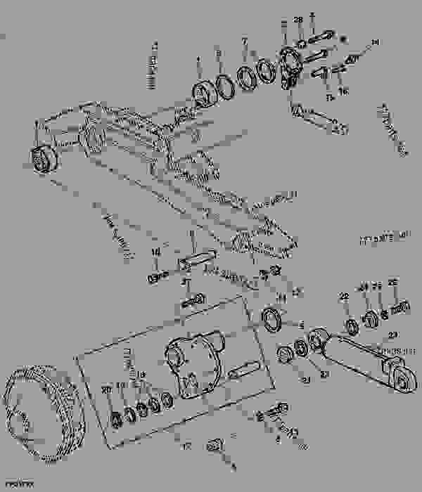 Parts scheme HILLMASTER ATTACHING PARTS, L.H. SIDE - COMBINE John Deere 9880i STS Hillmaster - COMBINE - 9880i STS Hillmaster Combine (S.N.715801- ) European Edition POWER TRAIN HILLMASTER ATTACHING PARTS, L.H. SIDE | 777parts