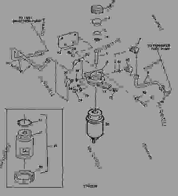 single fuel filter and fuel lines  code 3501   4039tf002