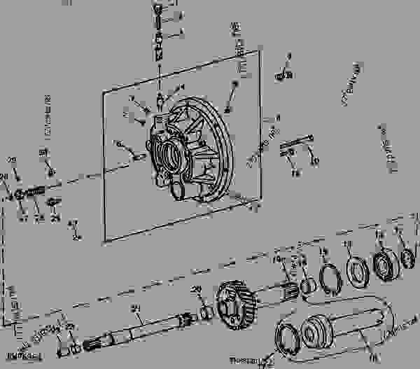 transmission and pto clutch operating piston housing (quad-range ... 4430 john deere clutch diagram  777parts