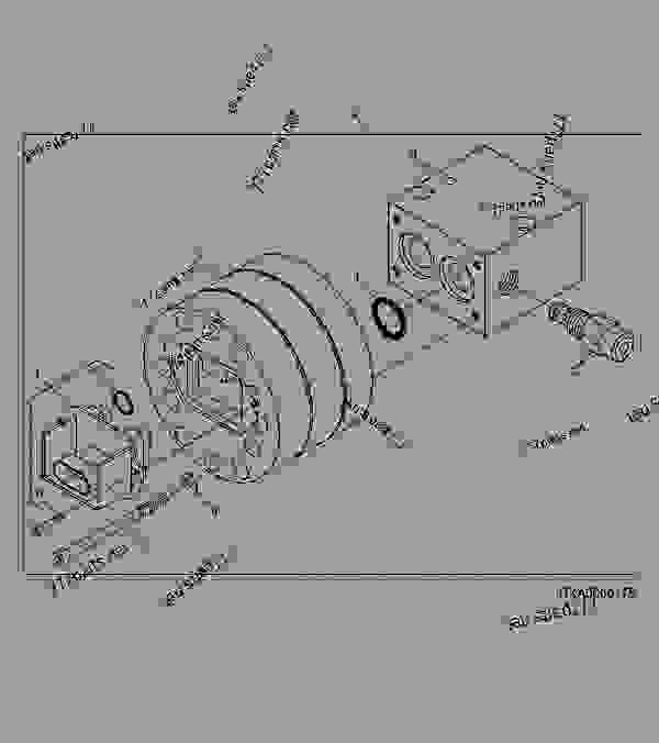 Parts scheme STEERING FLOWMETER ASSEMBLY - COMBINE John Deere 9880i STS Hillmaster - COMBINE - 9880i STS Hillmaster Combine (S.N.715801- ) European Edition STEERING AND BRAKES STEERING FLOWMETER ASSEMBLY | 777parts