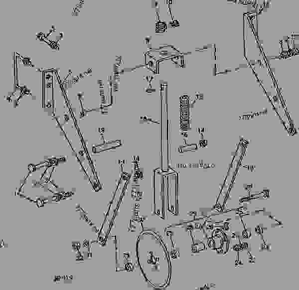 Rolling Cultivator Parts : Rolling coulter serial no  b cultivator