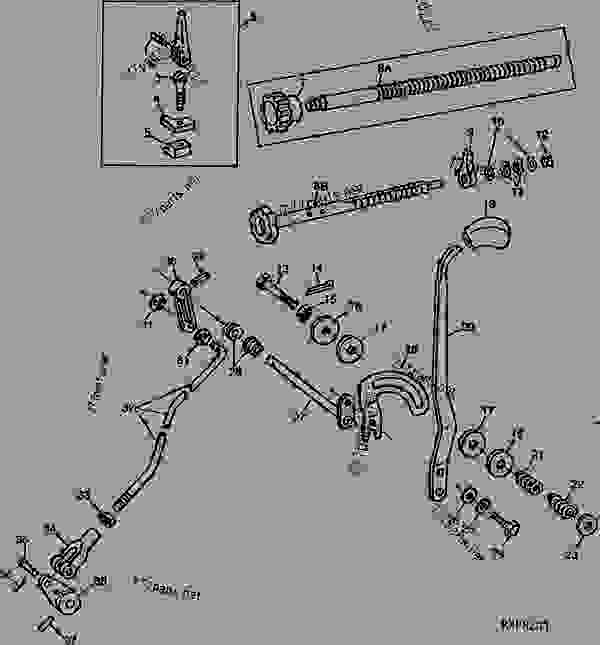 Hydraulic Control Linkage : Rockshaft control valve lever and linkage d