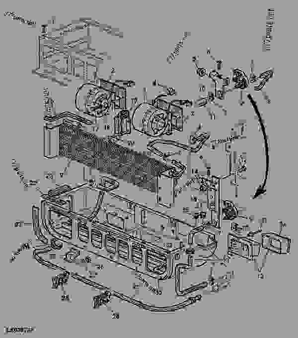 heating and blower without air conditioning tractor john deere rh 777parts net John Deere Electrical Schematics john deere 6420 wiring schematic