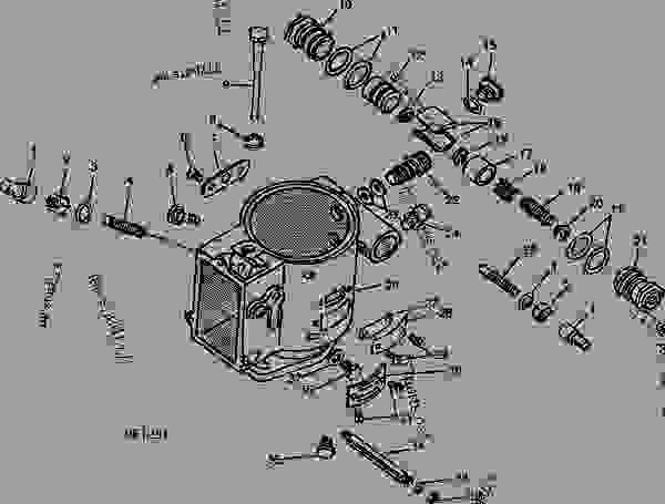 ford tractor injector pump diagram