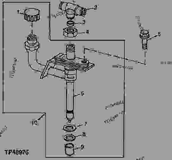 Parts scheme 16AB Fuel Injection Nozzle  ( - XXXXXX) - ENGINE, POWERTECH John Deere TF150 - ENGINE, POWERTECH - PowerTech 4.5L 4045TF150 Engine (Worldwide Edition) Fuel Injection System 4045TF150 16AB Fuel Injection Nozzle  ( - XXXXXX) | 777parts
