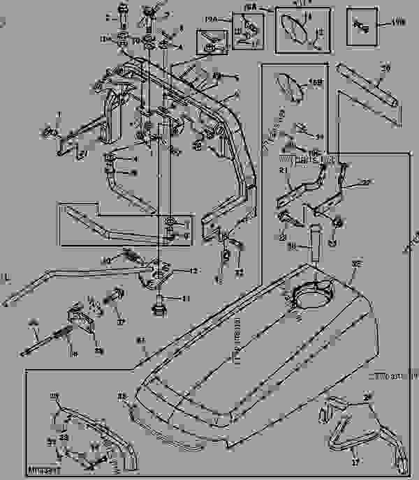 john deere 4600 parts diagram